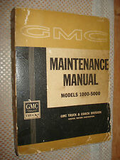 1962 GMC SHOP MANUAL ORIGINAL RARE SERVICE BOOK BASE FOR 63 SUPPLEMENT