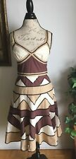 BCBG Maxazria cocktail party dress Sequin embellished white size 8