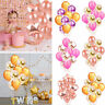 Rose Gold Foil Balloons Helium Confetti Birthday Wedding Party Love Decoration