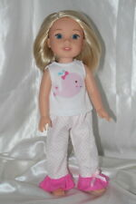 Doll Clothes fits 14inch American Girl Wellie Wishers Dress Pajamas