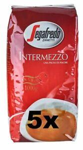 5x 1KG Segafredo Kaffee Intermezzo BOHNE