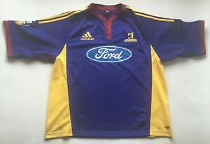 Vintage Highlanders Rugby Jersey Super 12 Ford Adidas XL Union New Zealand