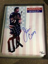 Jim Craig Signed Photo 8 x 10 Gold Medal Authentic Autograph w/Coa #/ 200