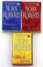Lot of 3 Nora Roberts Paperback Books Circle Trilogy Complete Set Paranormal