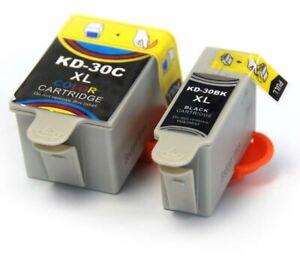 2 Ink Cartridges - Black and Colour - Kodak 30XL - Compatible Inks