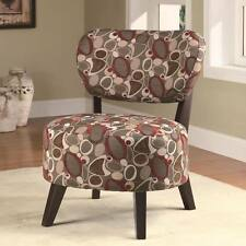 Brown Accent Chair with a Multiple Oblong Patterns by Coaster 900425
