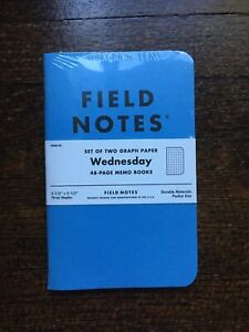 "FIELD NOTES ""Blue Wednesday"" Limited Edition - 2 Pack Pocket Memo Notebooks NEW!"