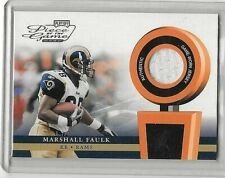 MARSHALL FAULK 2002 PLAYOFF PIECE OF THE GAME GAME USED JERSEY