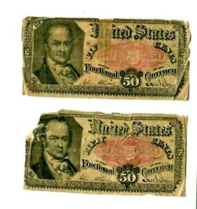 """2 FOR 1 (FRACTIONAL NOTES) 1800'S""""  2 FOR 1 MONEY!! (FRACTIONAL NOTES) 1800'S !!"""