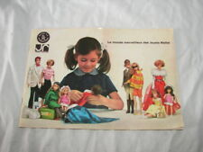 VINTAGE MATTEL PRICE GUIDE CATALOG BOOK WRITTEN FRENCH BARBIE KIDDLES DOLLS RARE