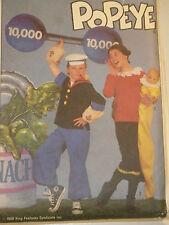 S-8831 Popeye Olive Oyl Swee'Pea Costume Sewing Pattern Simplicity Child Sz10 12