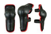 Kids Junior MX Motocross Hinged Knee Shin Pads Guard Protective Gear Body Armour