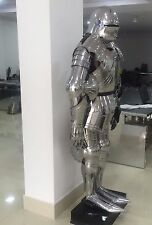 FULL GOTHIC FUNCTIONAL PLATE KNIGHT SUIT OF ARMOR, WEARABLE HALLOWEEN COSTUME G