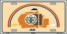 Aluminum License Plate Native American Flag Navajo Nation NEW