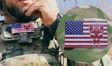 More details for seal team usa infra red patch 50mmx80mm clay spencer stars and stripes usa flag
