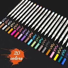 Sunshilor Metallic Marker Pens Glitter Metallic Calligraphy Brush Pens for Bl#44