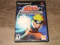 Shonen Jump Naruto Uzumaki Chronicles PlayStation 2 PS2 Complete CIB Authentic