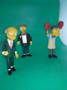 The Simpsons Collectable MOE, MR. BURNS and SMITHERS Doll Lot