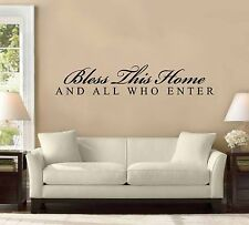 "48"" Bless This House and All Who Enter Wall Decal Sticker Decor Home Quote"