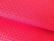 Bright Red 6 count High Quality Zweigart Binca  Aida 30 x 25 cm