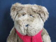 2001 RALPH LAUREN POLO BEAR BROWN EYES RED SCARF BABY TOYS PLUSH STUFFED ANIMALS