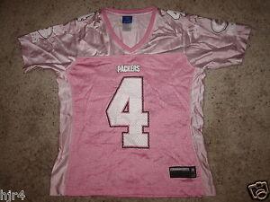 Brett Favre #4 Green Bay Packers PINK NFL Jersey Womens M medium