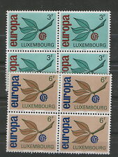 LUXEMBOURG-MNH** -BLOCK OF 4 SETS-EUROPA CEPT-1965.
