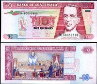 GUATEMALA 10 QUETZALES 2006 P 111 UNC LOT 5 PCS