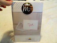 Heidi Swapp Minc Thank You Card Set NEW
