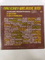 Countrys Greatest Hits A Columbia Musical Treasury DS 465 33 1/3 rpm Johnny Cash