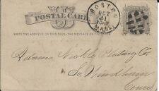 Postcard. Adams Nickel Plating Co. / Posmarked 1876