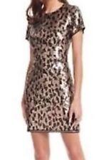 New Without tag BCBG Max Azria Animal Print Sequin B1948 Dress Sz S