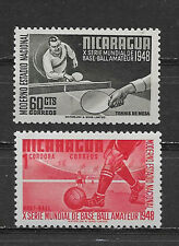 NICARAGUA , 1949 , SPORTS , SET OF 2, PERF , MNH