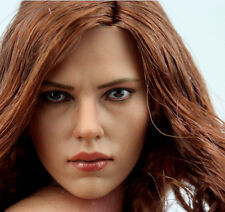 1/6 Custom Black Widow 5.0 Head Sculpt For Hot Toys Phicen Body H#Suntan