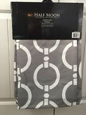 "Half Moon Chainlink Window Curtain Panel (Set of 2), 52"" x 84"" Gray, New In Pack"