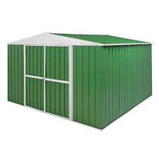 Casetta Box Da Giardino in Lamiera Verde Per Deposito Attrezzi 360x345x212cm En