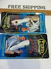 LOT OF 2 OZARK MOUNTAIN WOOD POP EYE FISH TOPWATER BASS LURE CHARLIE CAMPBELL,.