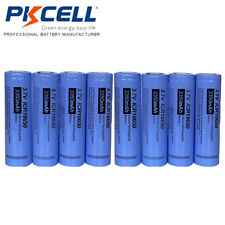 8PCS NEW ICR 18650 3350mAh 3.7V Li-ion Rechargeable Battery Flat Top PKCELL