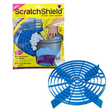 Scratch Shield Grit Guard Adjustable Universal Wash Bucket Water Filter BLUE