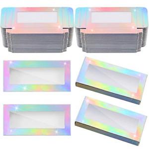 50 Pieces Empty Eyelashes Packaging Box Paper Eyelash Box Eyelash Holder Case