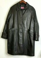 Excelled Leather Jacket L Black 3/4 Length Long Sleeve Cuffs Fully Lined Pockets