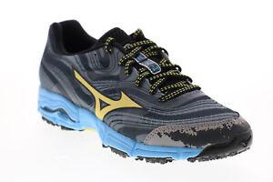 Mizuno Wave Kazan J1GK147144 Womens Gray Mesh Lace Up Athletic Running Shoes