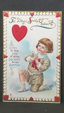 Vintage 1911 Valentine Post Card To My Sweetheart Listen To This Plea Lsc 242B