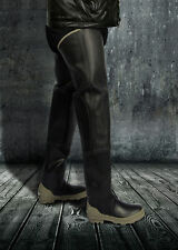 BullseyeHood  Black Rubber Fishing Waders Long Boots Extra Tall 10  Watstiefel