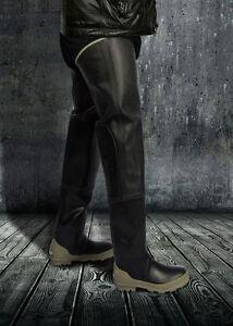 Bullseye Hood  Black Rubber Fishing Waders Long Boots Extra Tall 11  Watstiefel