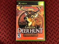 Cabela's Deer Hunt: 2004 Season (Microsoft Xbox, 2003) Hunting Game Complete!