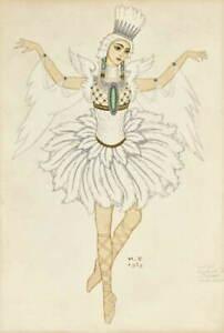 Ivan Bilibin The Swan Princess Giclee Art Paper Print Poster Reproduction