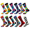 Mens Cotton Socks Funny Colorful Plaids & Checks Novelty Dress Socks For Gifts