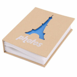 Cardboard Tower Pattern 100 Pockets Picture Holder Collection Photo Album Blue