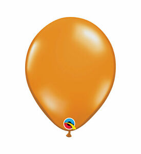 Pioneer Balloon Company Qualatex Jewel Transparent Mandarin Orange Round Latex B